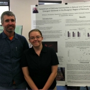 Brittany Brookshire with her mentor Dr. David Brown