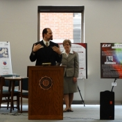 Dr. Smith talking at the UP Showcase