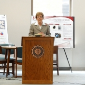 Dr. Vice, EKU's Provost, talks at the UP Showcase